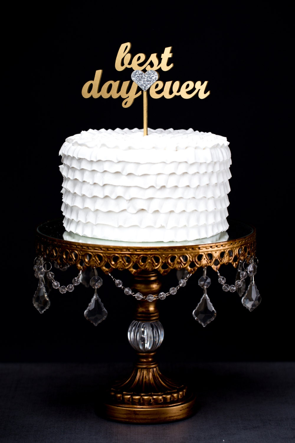 Best Day Ever Wedding Cake Topper Gold By BetterOffWed On Etsy
