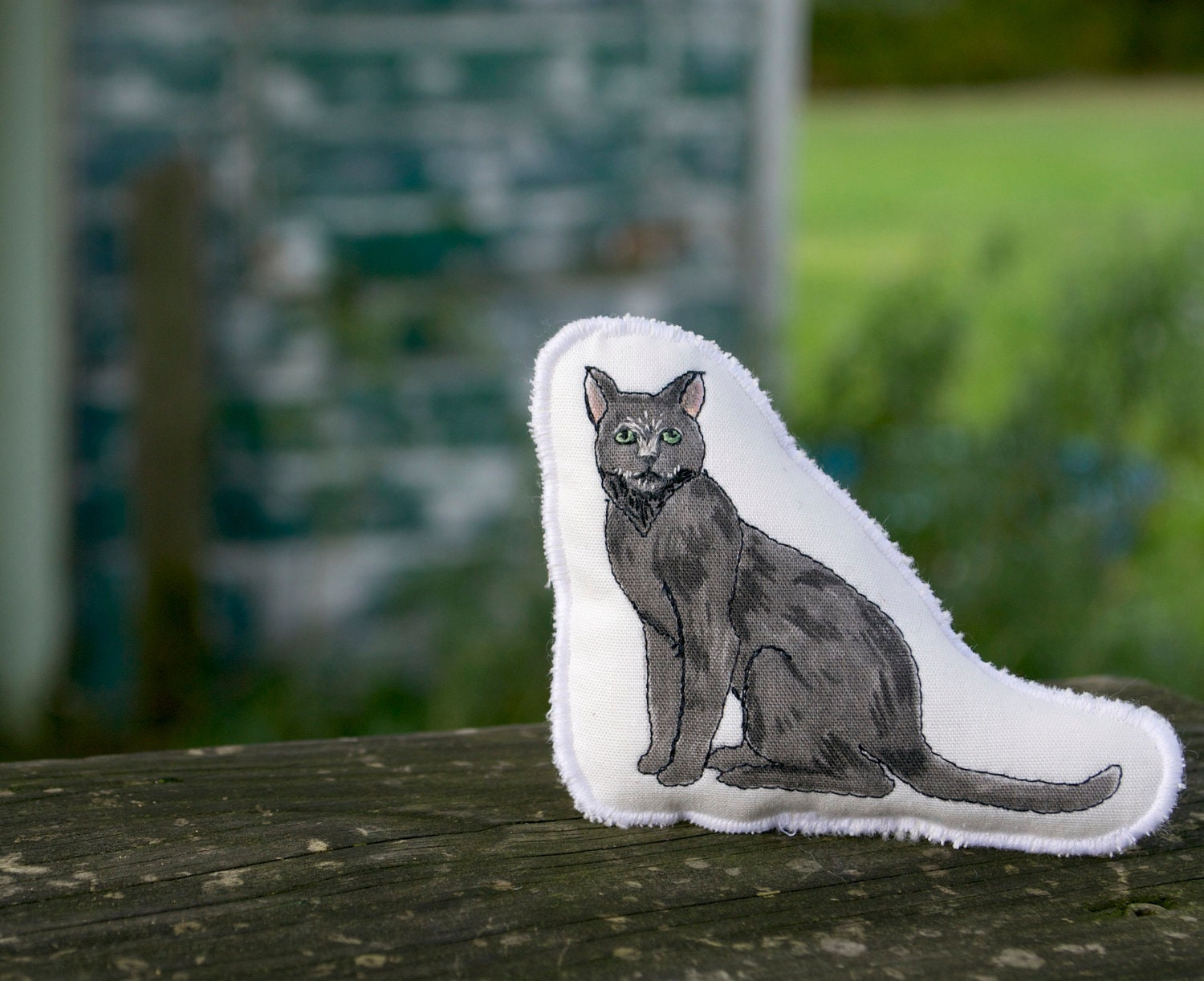 Barn Cat Toy. Hand Drawn Organic Cotton Farm Pillow Toy by Aly Parrott on Etsy. - alyparrott