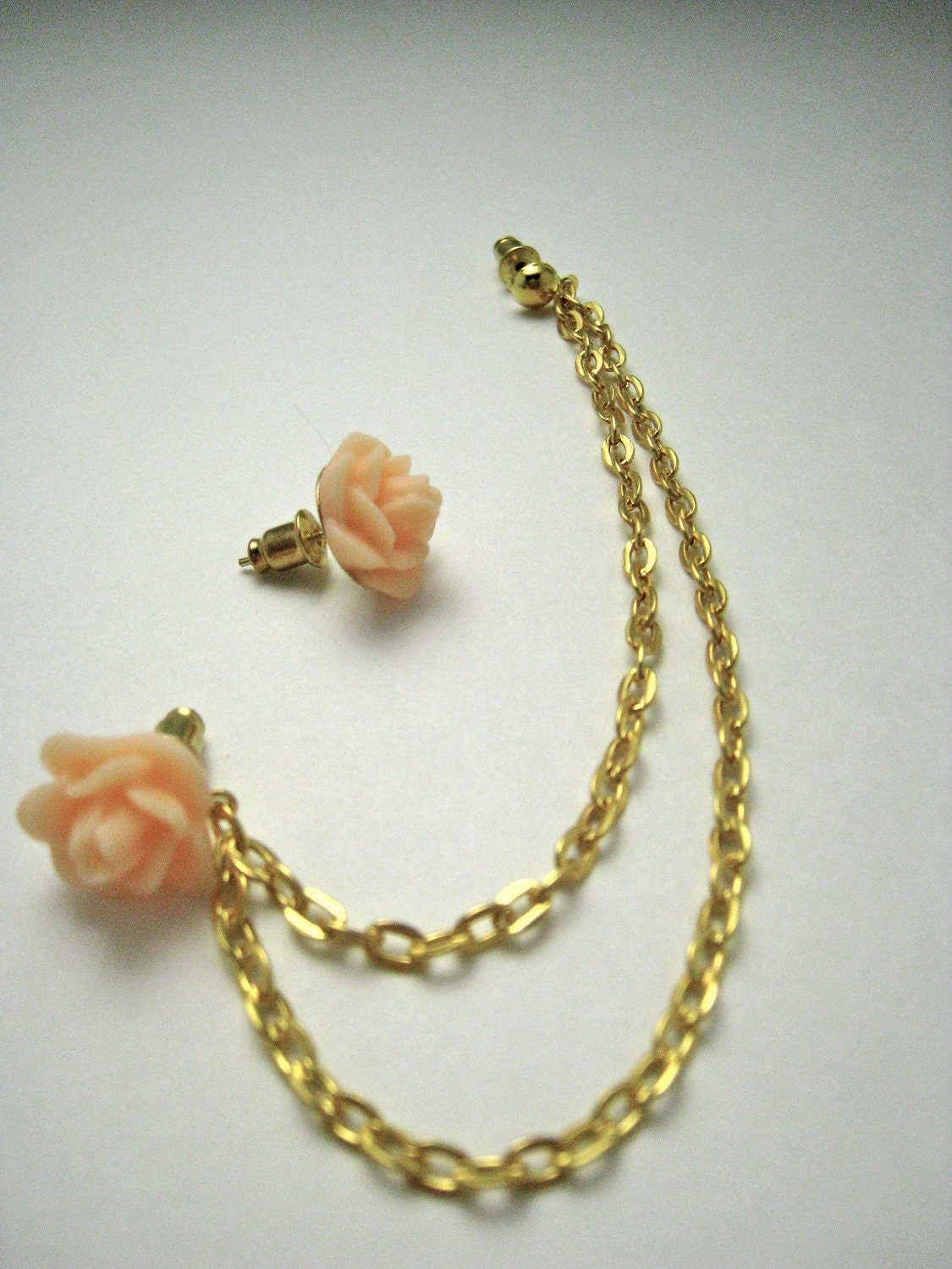 items similar to flower gold cartilage earring on etsy