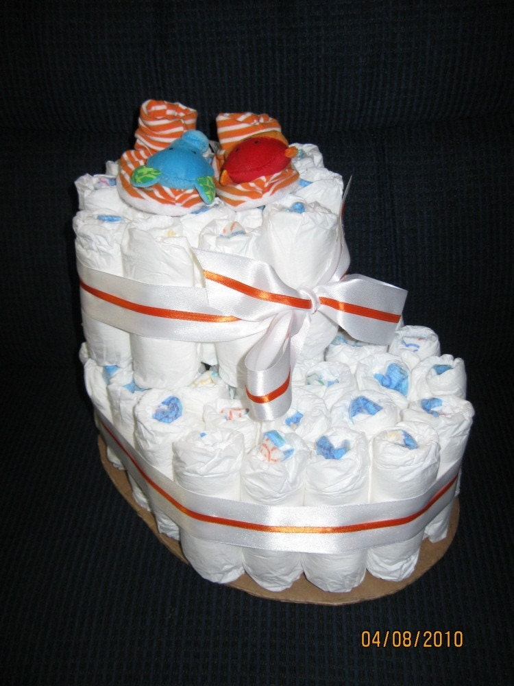 BABY BOOTIE DIAPER CAKE by CrystalsCreations22 on Etsy