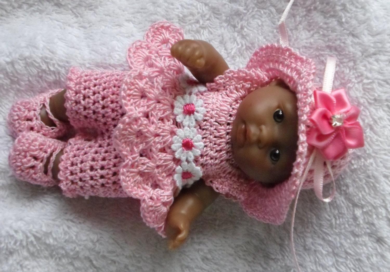 Crochet Pattern Baby Doll : Crochet pattern for Berenguer 5 inch baby doll by petitedolls