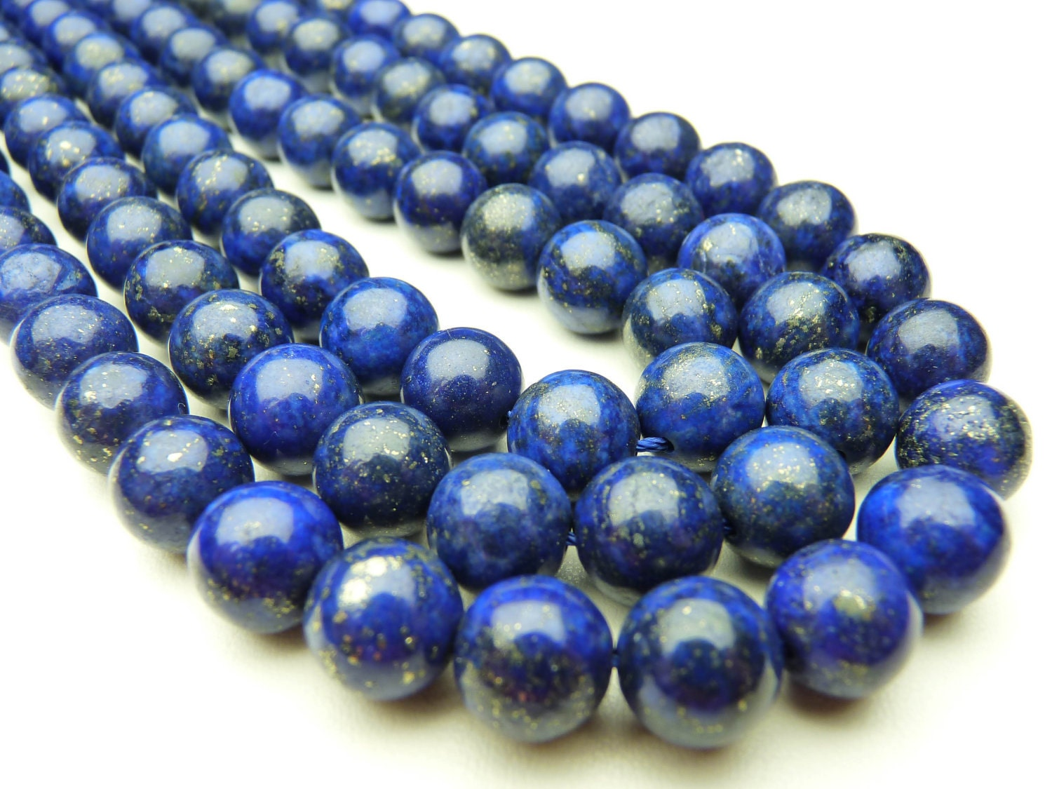 Lapis Lazuli Round Beads, 10 mm, 16 inches Strand