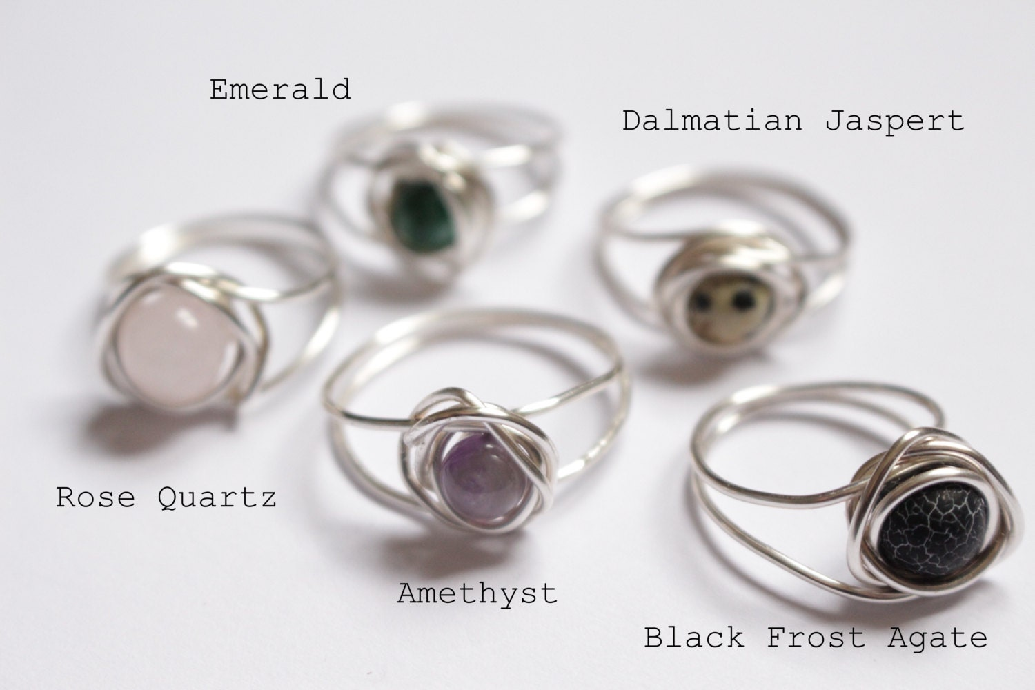 Wire Wrapped Rings Gem Stone