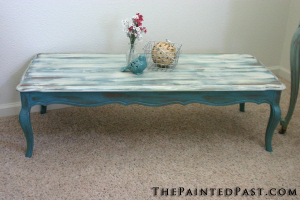 Beach Style Coffee Table By Thepaintedpast On Etsy