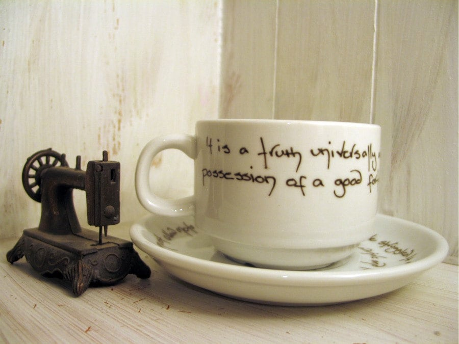 Pride and Prejudice Tea Cup - Jane Austen