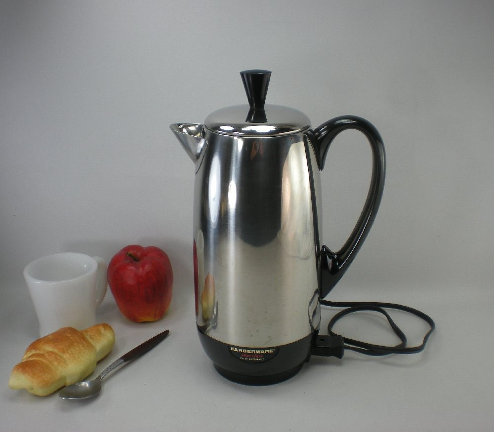 Farberware Coffee Maker Cleaning : Farberware Coffee Maker Superfast Stainless by oldetymestore