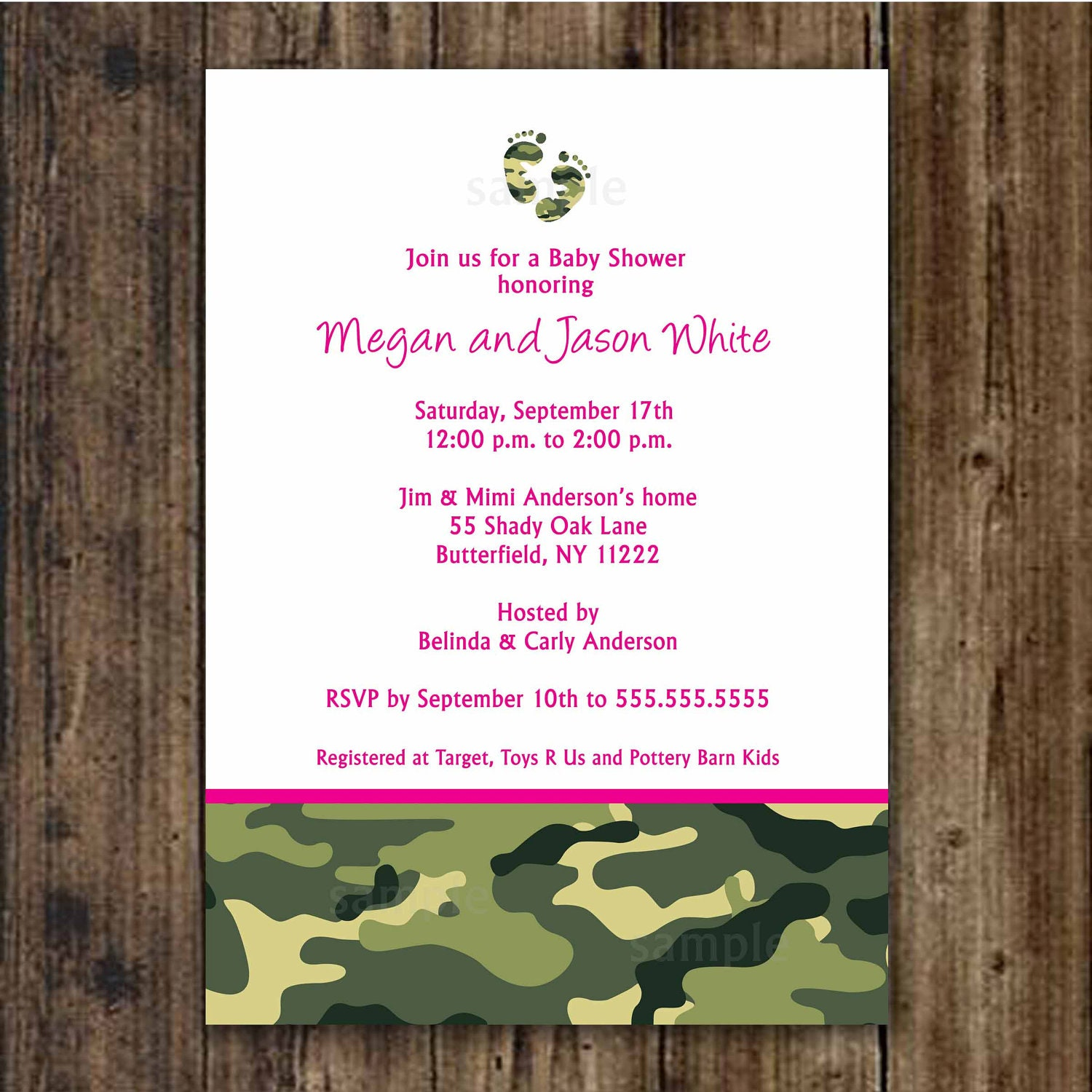 similar to pink and green camo baby shower invitation camouflage
