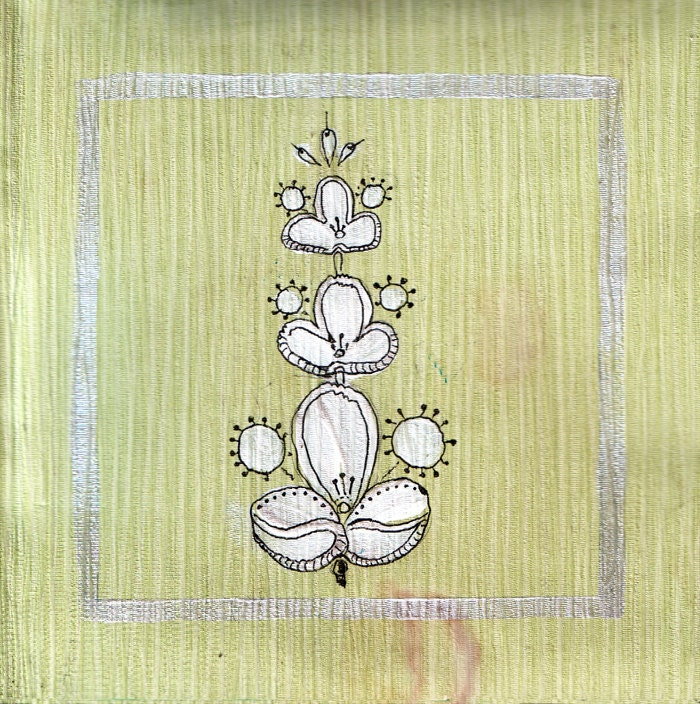 Beautiful flowers in the style of shabby chic. The green background 4. Print