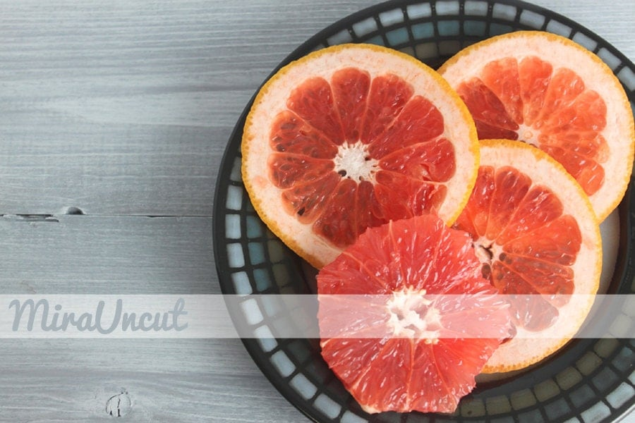 Grapefruit - Fine Art Photography Print - Kitchen Decor - Food Photo - Orange & Grey - 8x10 - MiraUncut