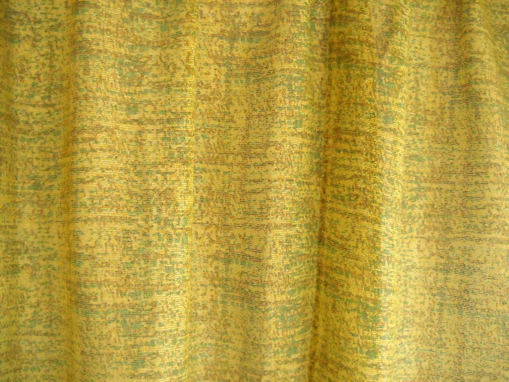 Vintage Curtains Vintage Drapes Draperies Mustard Yellow Curtains
