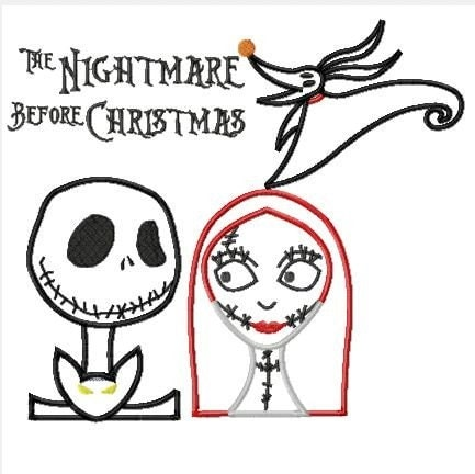 Nightmare Before Christmas FOUR designs Jack Skellington, Sally, and ...