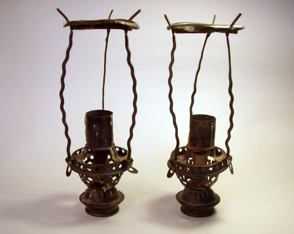Metal candle lantern holder punched by - Punched metal candle holder ...