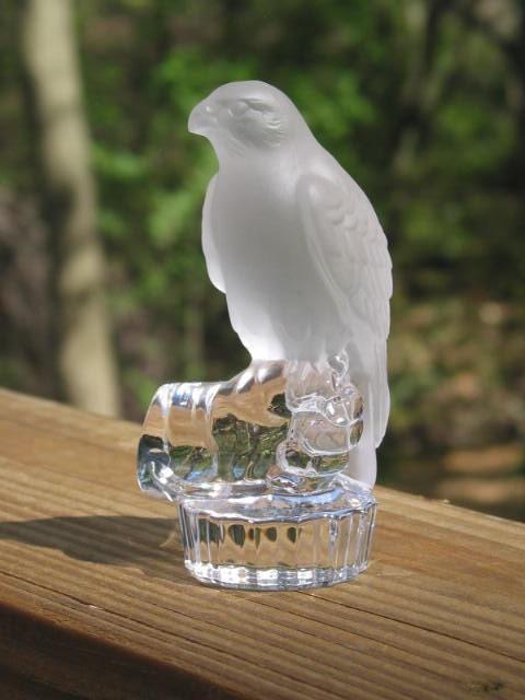 Nachtmann Crystal Bird figurine satin frosted hawk by ...