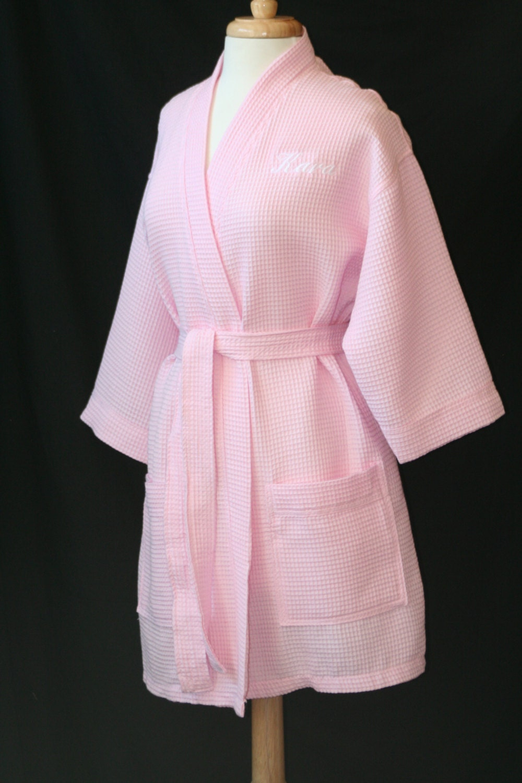 Waffle Weave Kimono Robe