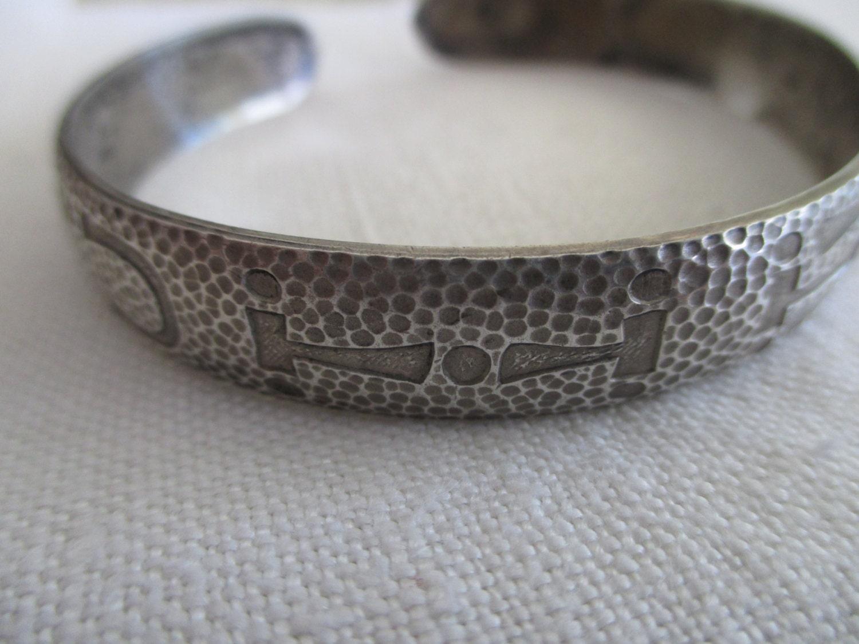 Sterling Silver Cuff Bracelet S Wohelo Camp Fire Girls