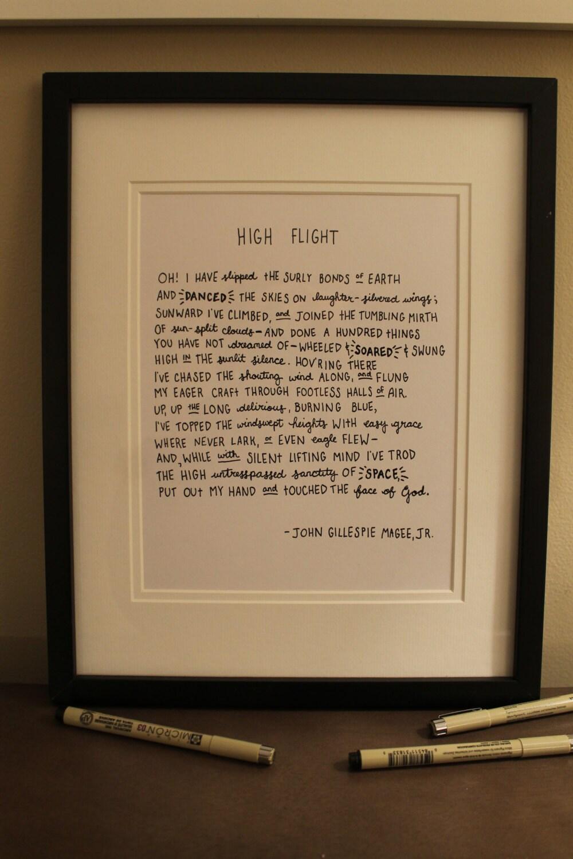 High flight john gillespie magee poem analysis essay