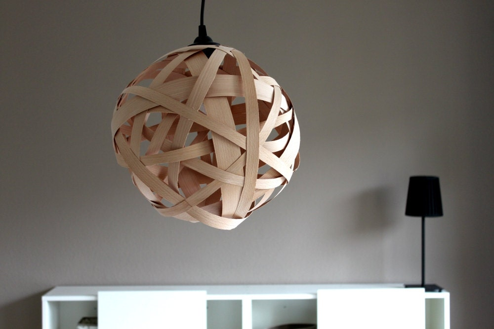 lamp timber design wood pendant lamp textile fabric. Black Bedroom Furniture Sets. Home Design Ideas