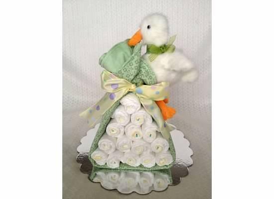 make stork diaper cake