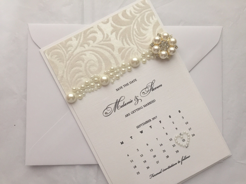 SAMPLE Calendar Save the Date Handmade Wedding Stationery wedding invite card save the date