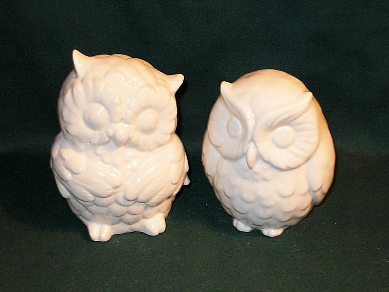 Hootie Ceramic Owl Figurines Wedding Cake By Ceramicsbylisa