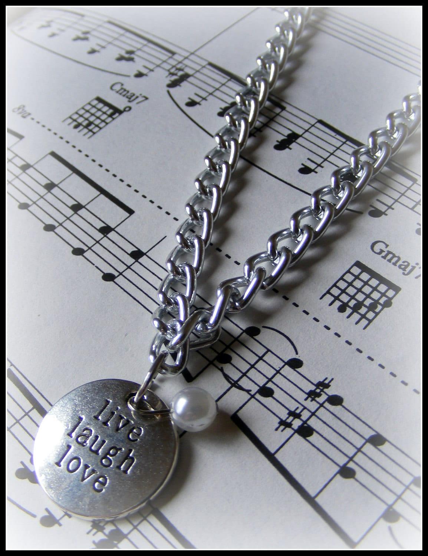 Long Necklace Live Laugh Love