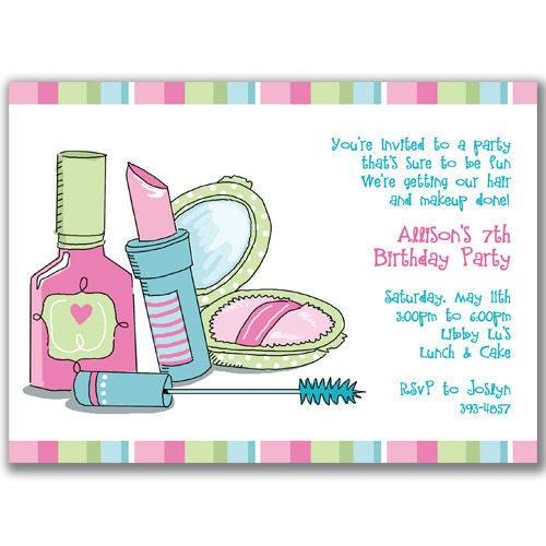 Pamper Party Invite is luxury invitations ideas