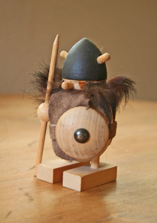 Wooden Viking Figure By Modishvintage On Etsy