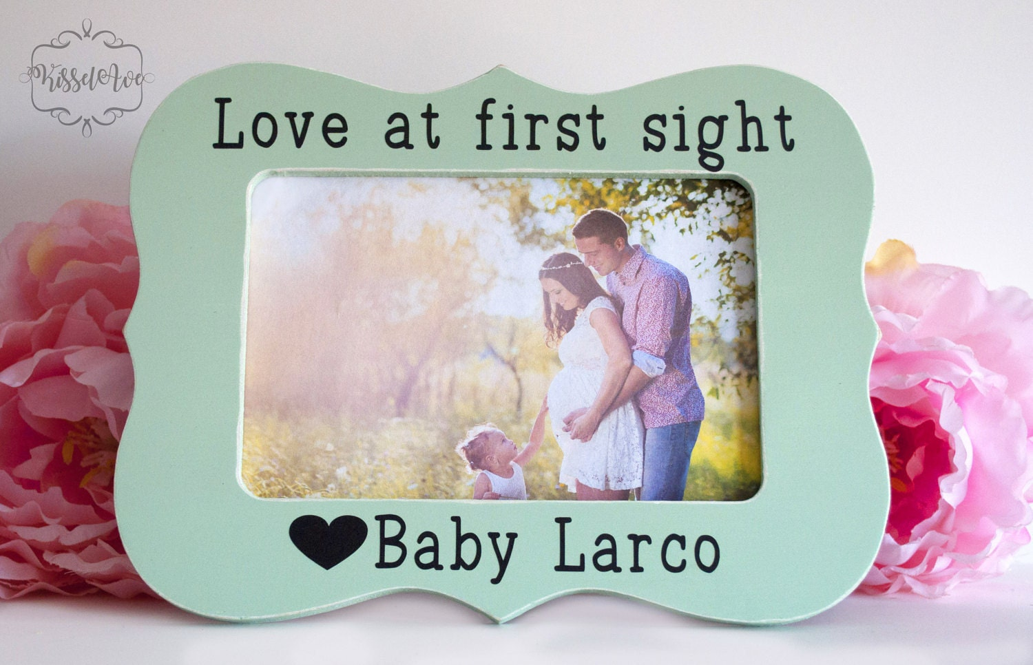 Love at First Sight Sonogram Photo Frame  Engraved