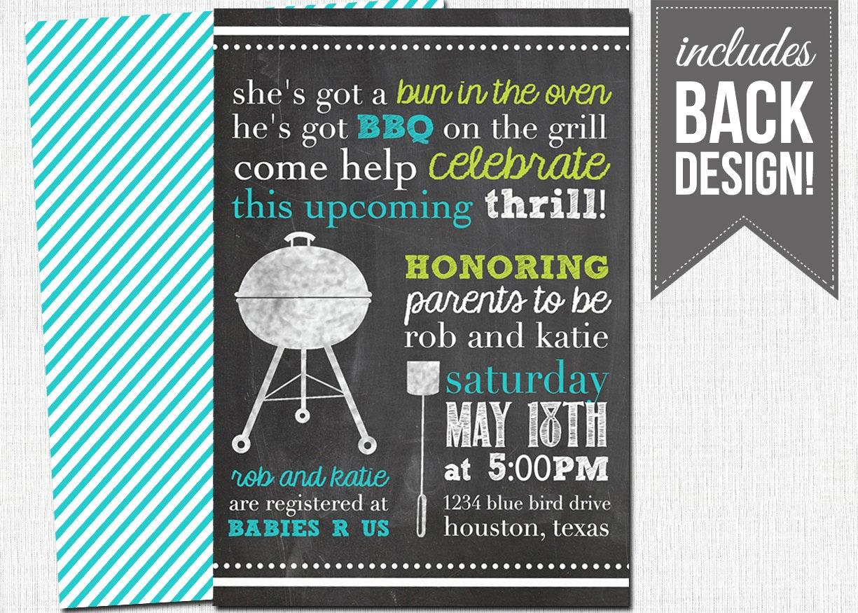 bbq baby shower invitation printable custom by katesprintables