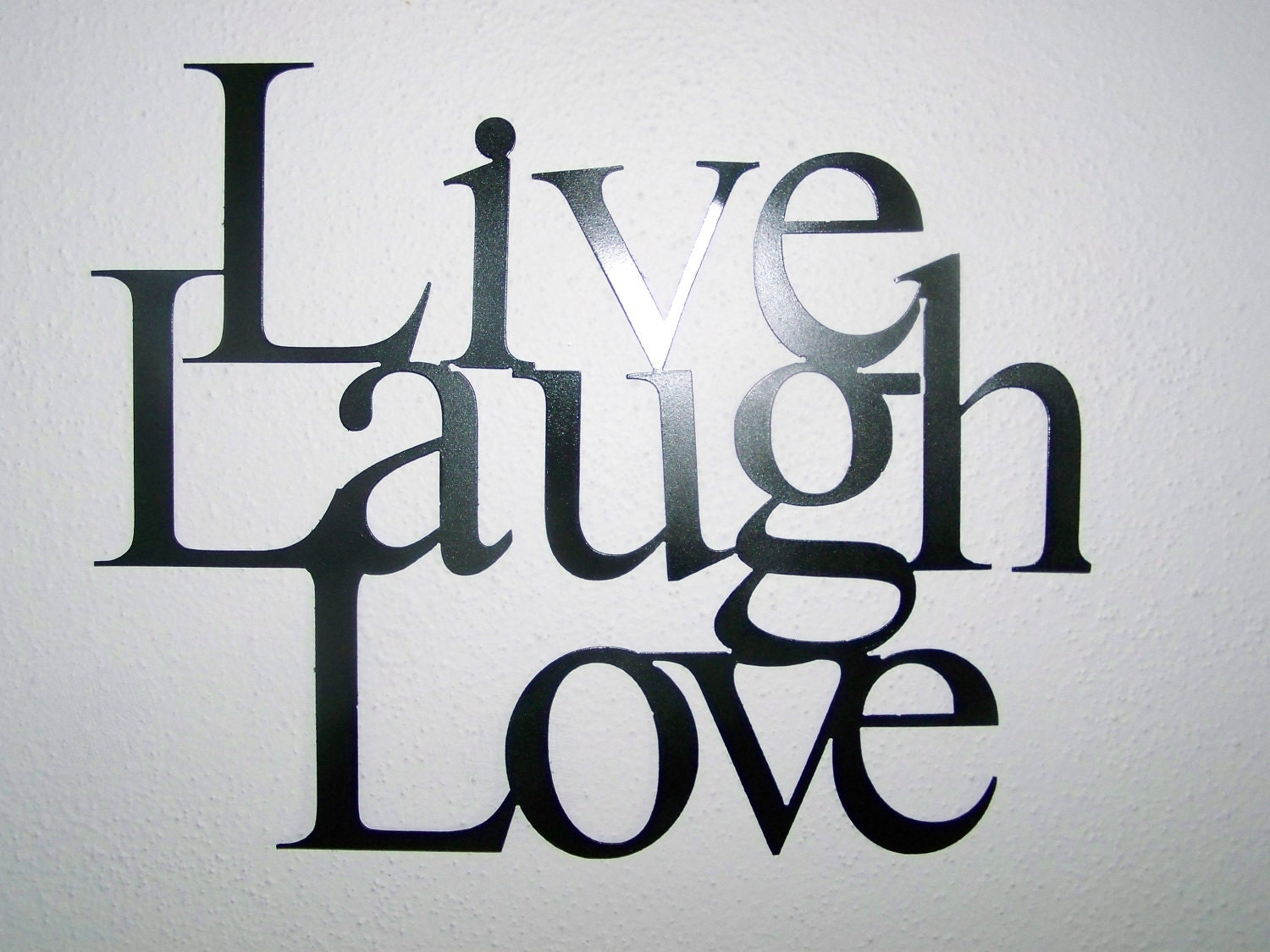 live laugh love wall hanging decor available by scharesmetalworks. Black Bedroom Furniture Sets. Home Design Ideas