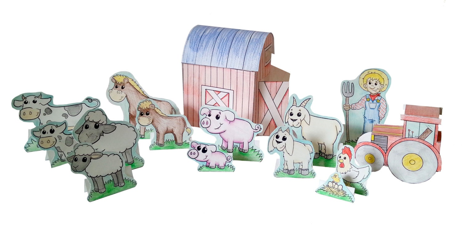 Printable Coloring My Farm Playset