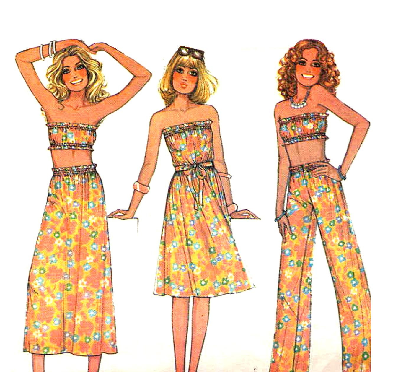 Vintage 1970s Tube Top Dress or Skirt and by MaddieModPatterns - photo#26