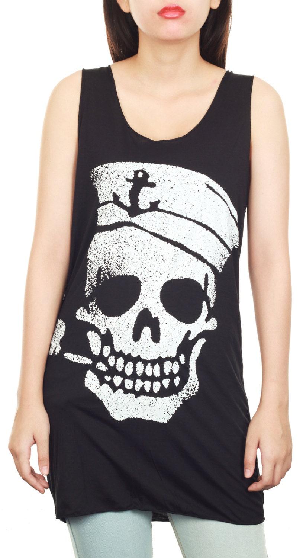 skull pirate print tunic