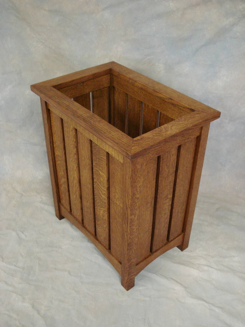 Oak Waste Basket ~ Mission oak waste basket or umbrella stand by chadwoodruff