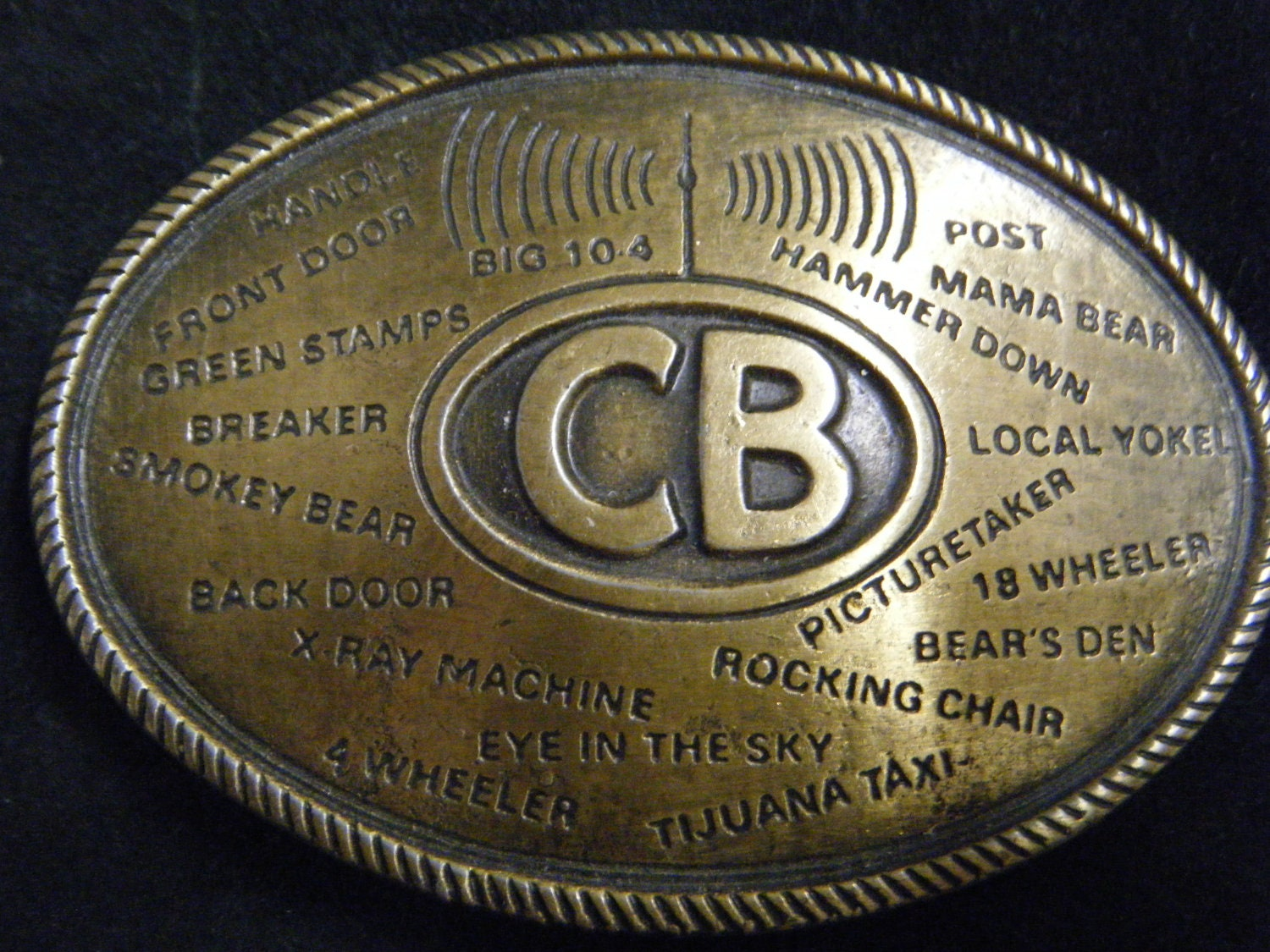 Cb Lingo besides Cb Slang together with Cb Radio Slang Trucker Belt Buckle furthermore Lingo additionally Retrospace Cb Radio Slang Dictionary. on trucker cb radio lingo