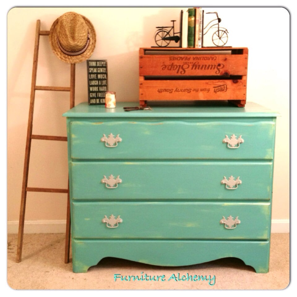 Unavailable listing on etsy for Mint green furniture paint