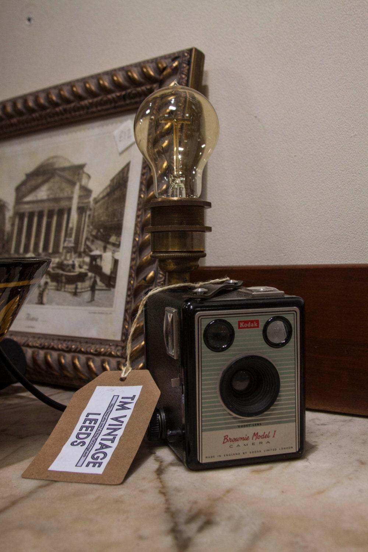 Kodak Box Brownie Camera Lamp  vintage model