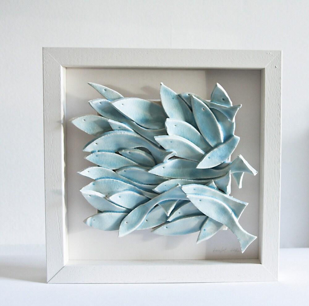 MADE TO ORDER ceramic wall art fish tile sculptural by karoArt