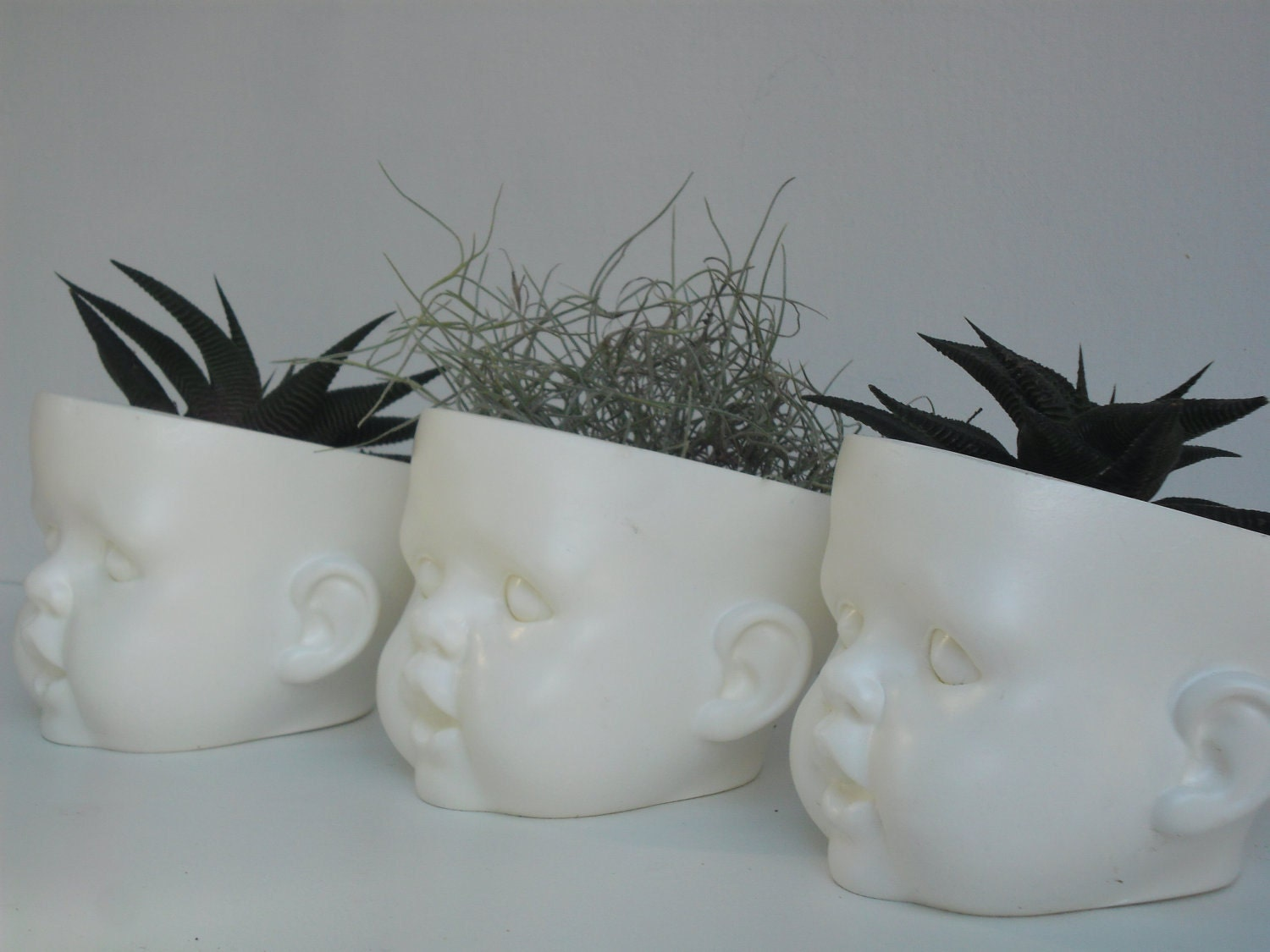 Doll Head Planter Resin By Littlebubble On Etsy
