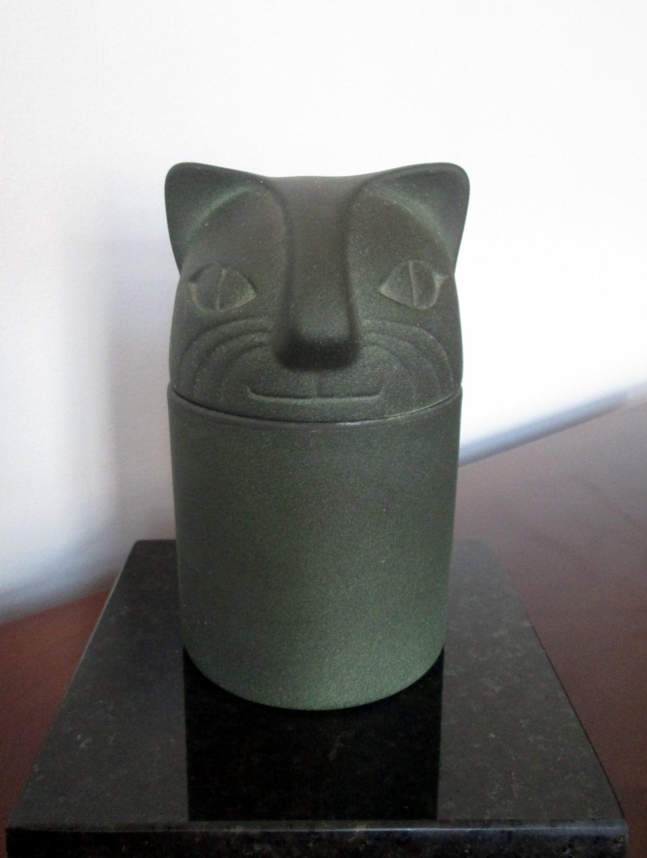 Vintage Giorgio di Sant' Angelo Ceramic Cat Fragrance Decanter - Circa 1980s' - LyricalVintage