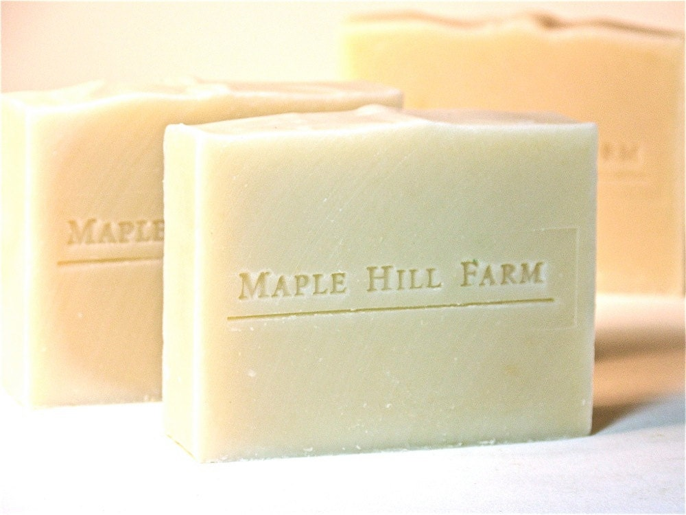 Shea and Cream - All Natural Olive Oil Soap with 30% Unrefined Shea Butter - Unscented - MapleHillFarm