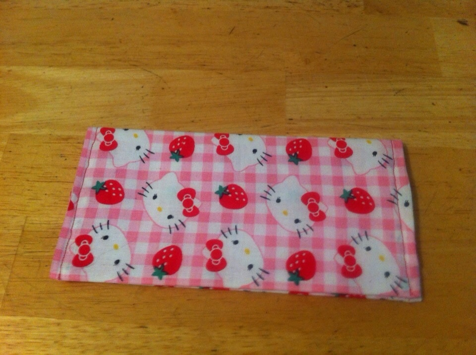 Fabric Book Covers Canada : Fabric check book cover hello kitty by dmcjpets on etsy