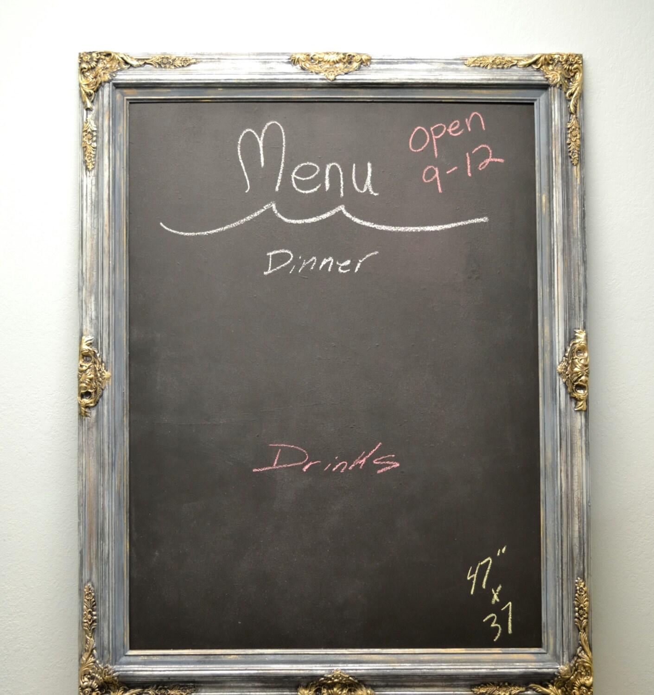 Large framed chalkboard  Etsy
