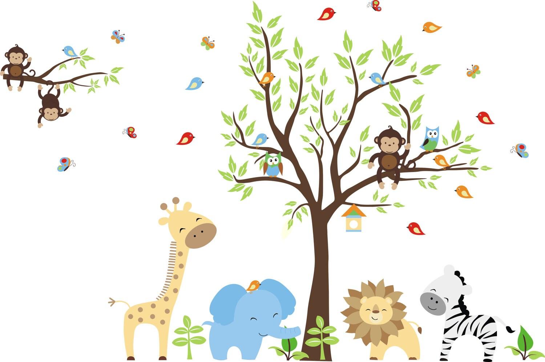 Cartoon Baby Safari Animals
