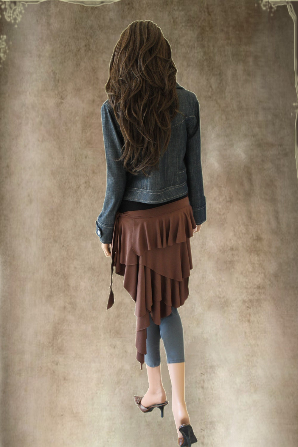 Womens cover up half skirt brown accessory by tratgirl bumlero - tratgirl55