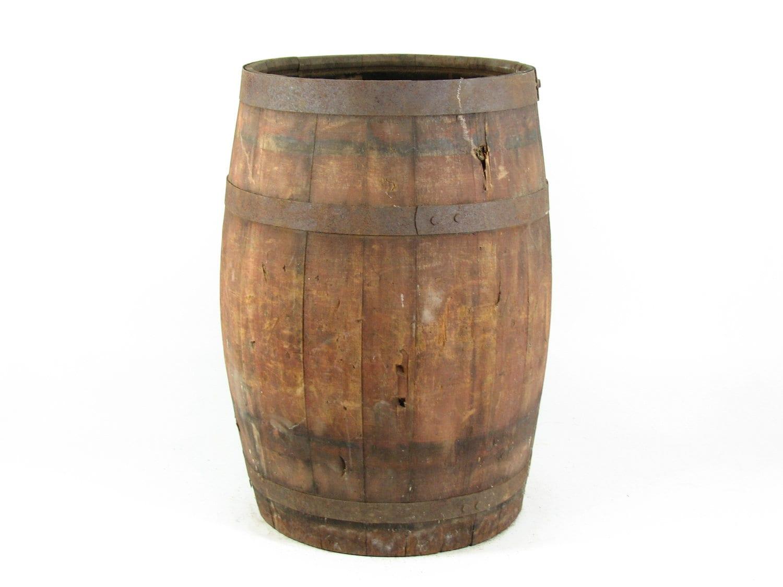 Vintage Wood Barrel Wooden Nail Keg DIY Table by BridgewoodPlace