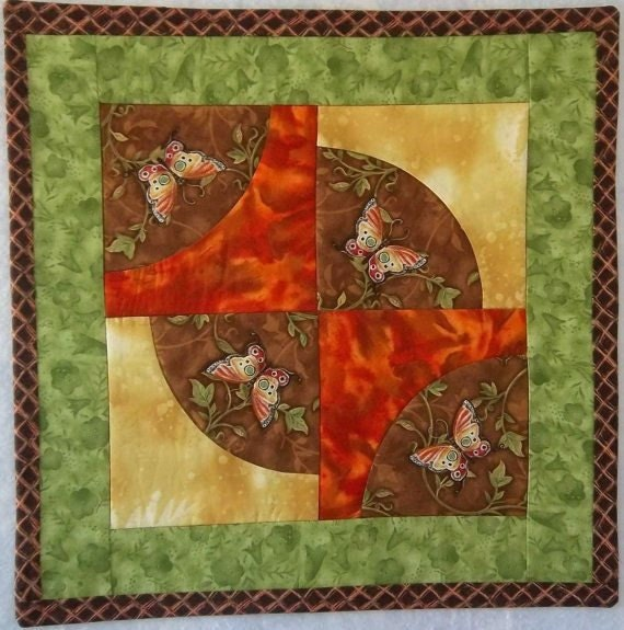 Quilted Wall Hanging - Butterfly Wall Quilt - PatsysPatchwork