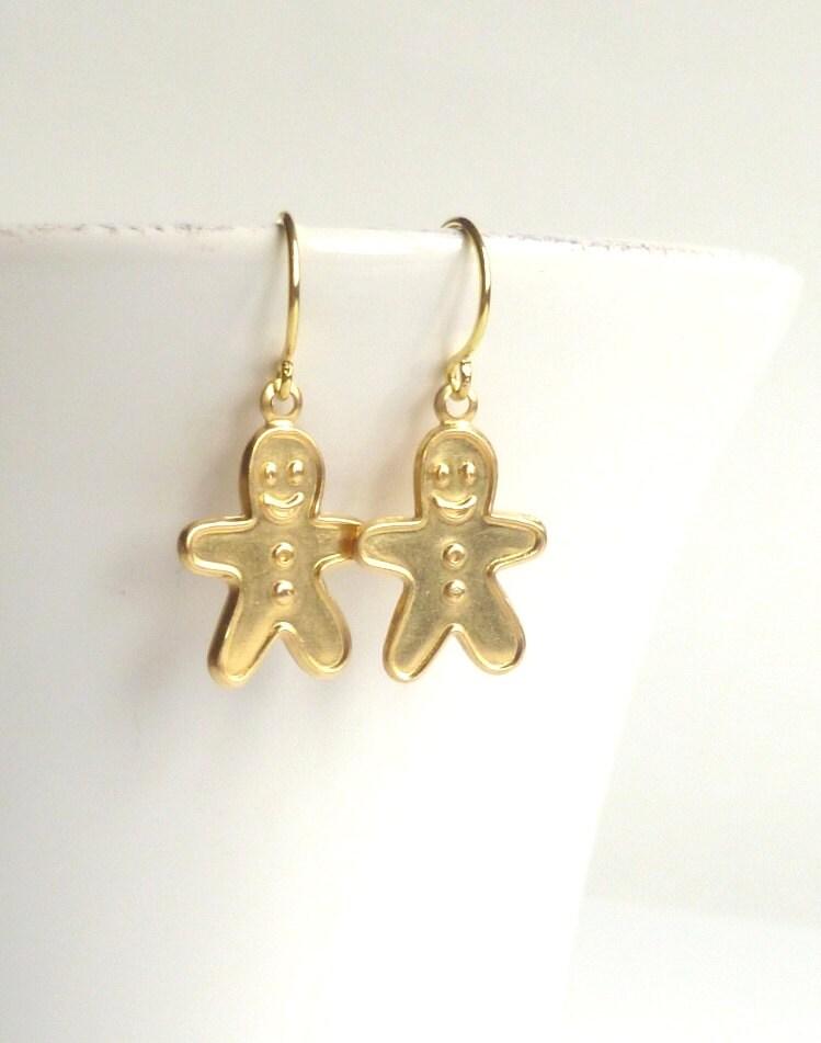 items similar to gingerbread earrings brass