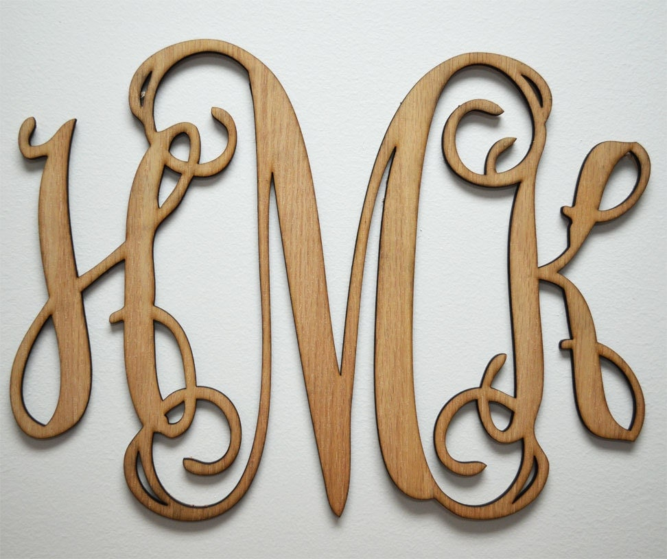 Etsy Initial Wall Decor : Home decor or wooden monogram wall art by fivendime