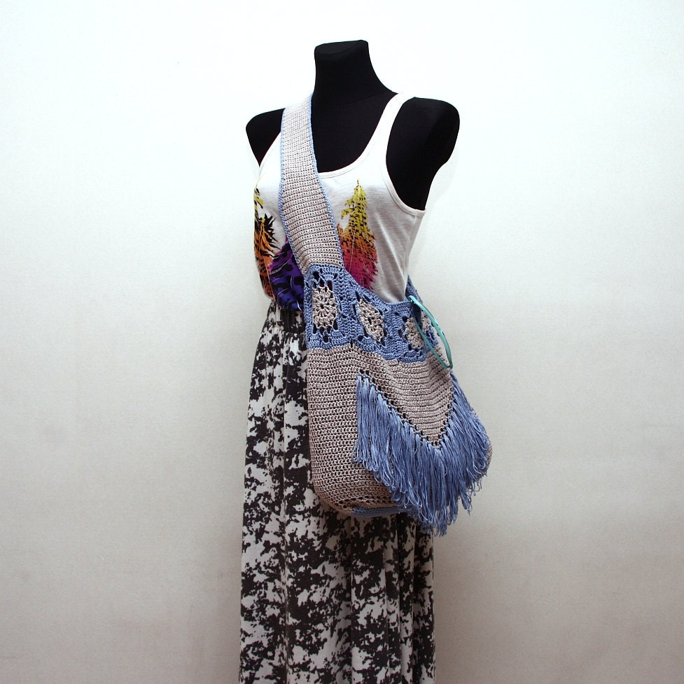 Crochet Boho Bag Pattern : Crochet Pattern PDF - Boho Tote - Crochet Tote Bag Pattern instant ...